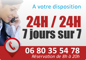 Taxis à votre disposition 24h/24 7j/7
